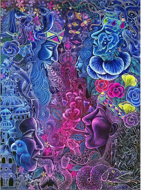 Painting by ayahuasquero, Pablo Amaringo