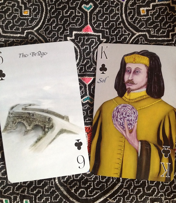 The top and bottom cards from the calendar spread always have added significance.