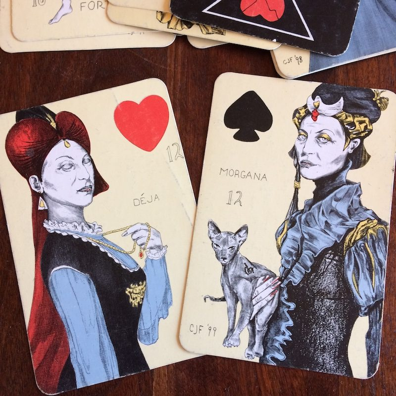 how to read card combinations like this Water Queen and Earth Queen (from The Playing Card Oracles) as Lock and Key to go beyond ordinary interpretation